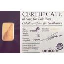 10gr Gold Bullion/ Bar Umicore