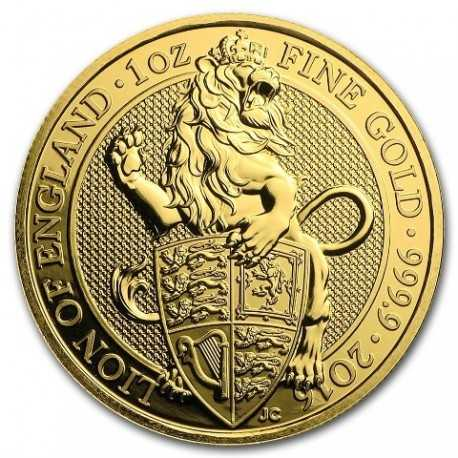 Queen's Beasts Lion, 1 oz. Gold, 2016