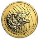 Canadian Roaring Grizzly Bear 99999 1 oz  2016 Gold