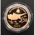 Archiepiskop Makarios  Gold 1977 Proof (Cyprus)