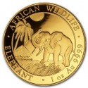Somalia Elephant, African Wildlife,  1oz Gold, 2017