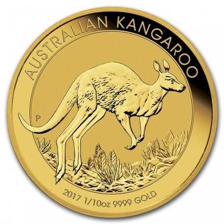 Nugget / Kangaroo, 1/10oz Gold, 2017