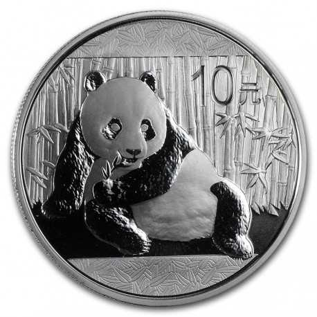 China Panda, 10 Yuan, 1 oz. Silver 2015