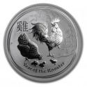 Lunar Rooster, 1oz. Silver, 2017