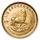 Krugerrand, 1/2 oz Gold, 1980