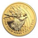 Canada Gold Elk .99999 BU 1oz, 2017