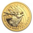 Canada Gold Elk  99999 BU 1 oz  2017
